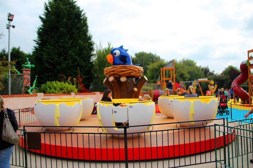 All aboard the Okie Yolkie, eggs that spin you around at Sundown Adventureland