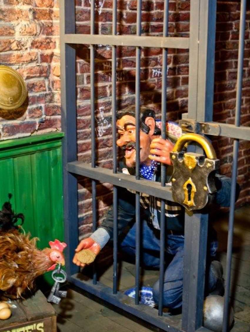 There's a surprise waiting inside the jail at Sundown Adventureland