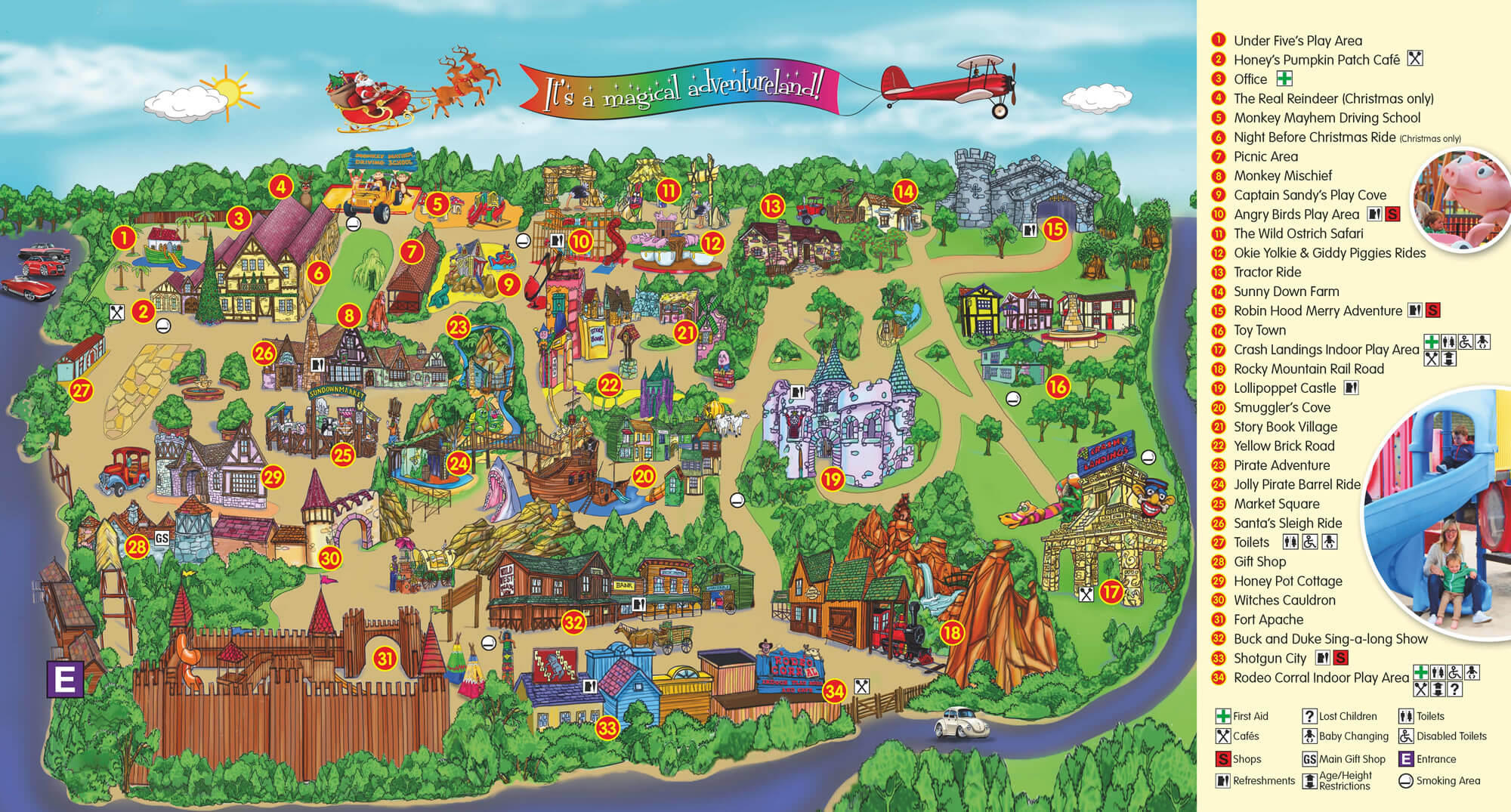 Sundown Adventureland Theme Park Map