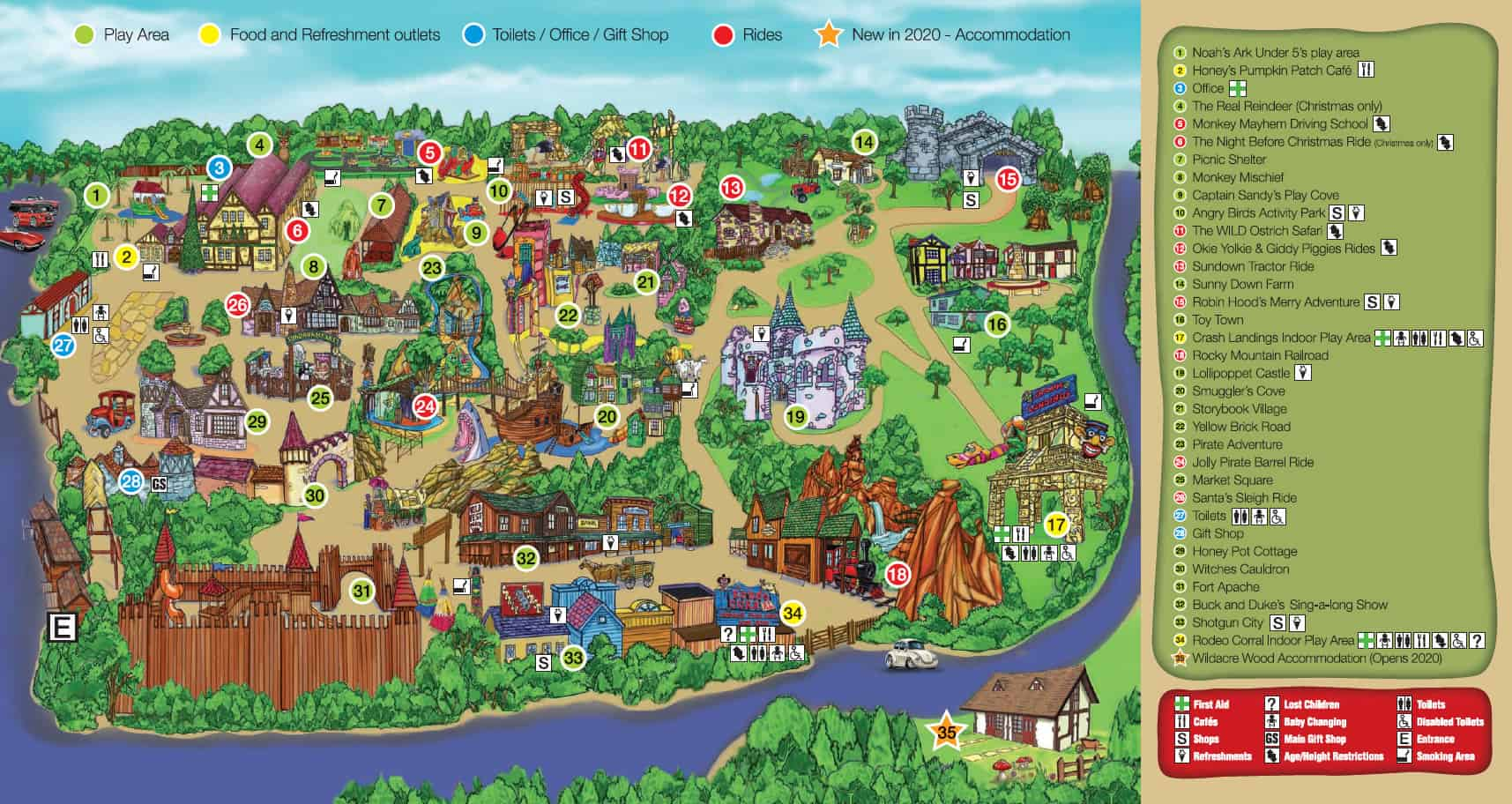 Theme Park Map & Leaflet | Sundown Adventureland
