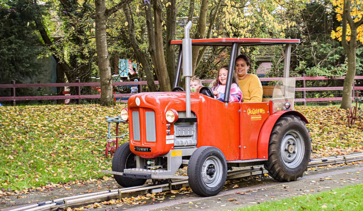 Tractor ride at Sundown Adventureland