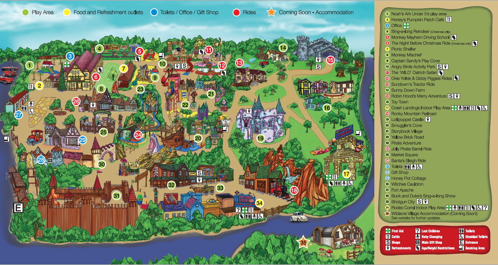 Sundown Adventure Land Park Map 2020
