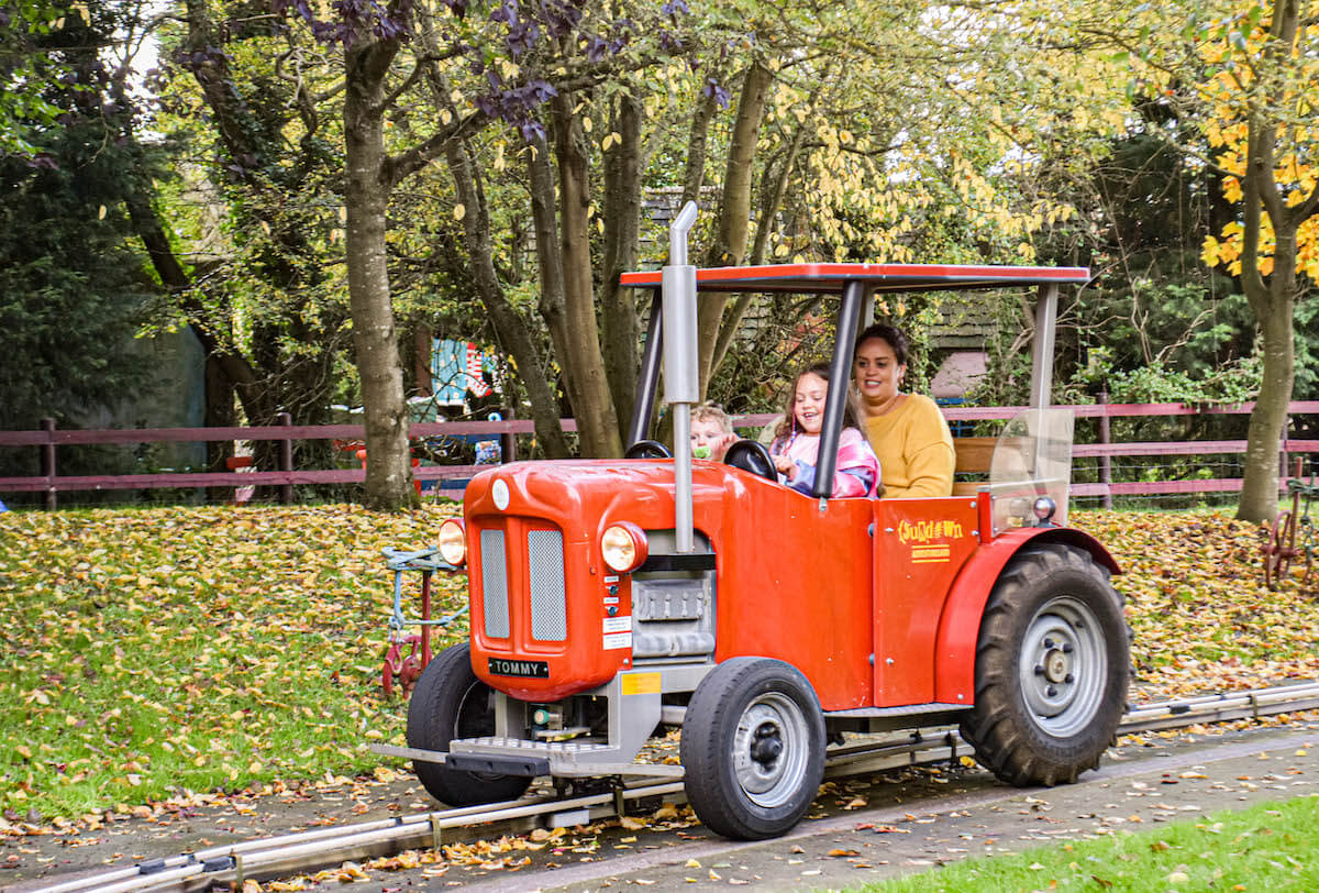 Ride the massive Tractor ride through the countryside at Sundown Adventureland this Mother's Day